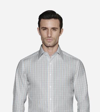 shirts cottons blue multicolor checks poplin multicolor