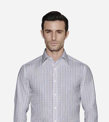 shirts cottons blue and multicolor checks poplin multicolor