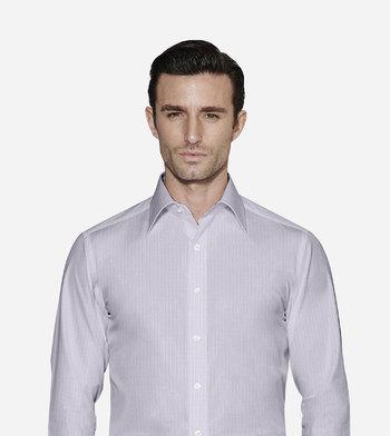 shirts cottons blue checks poplin pink