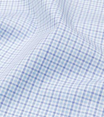 shirts cottons navy and blue checks poplin blue 1 2721