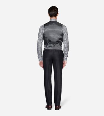 vests charcoal twill vest
