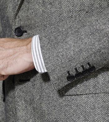 jackets grey herringbone jacket