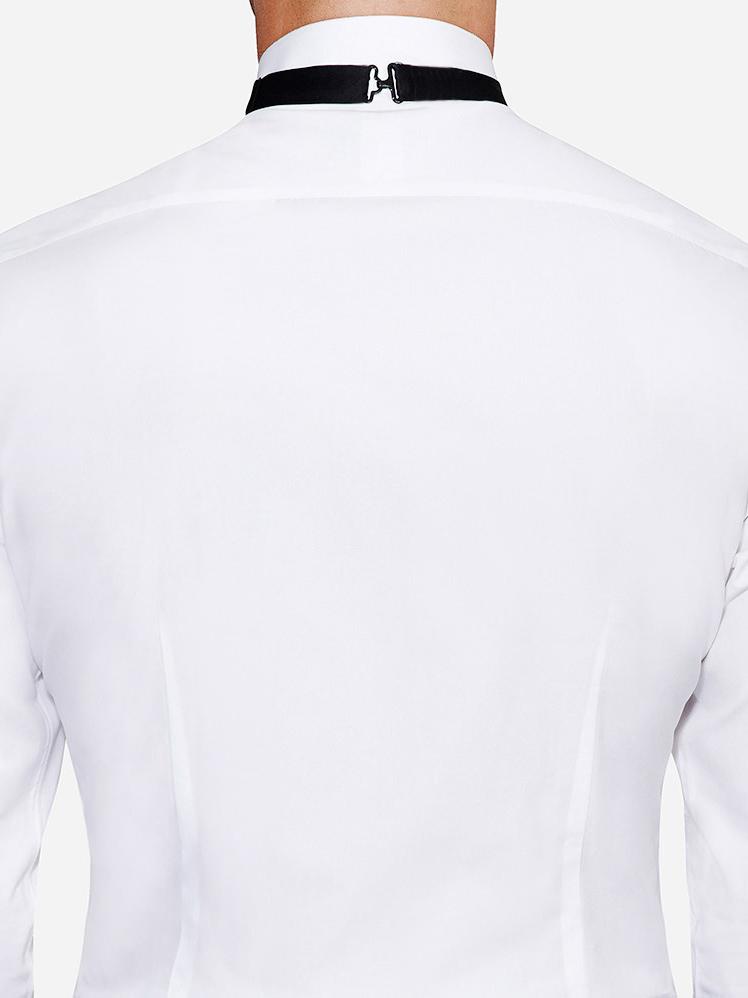 2 Darts in back tuxedo shirt