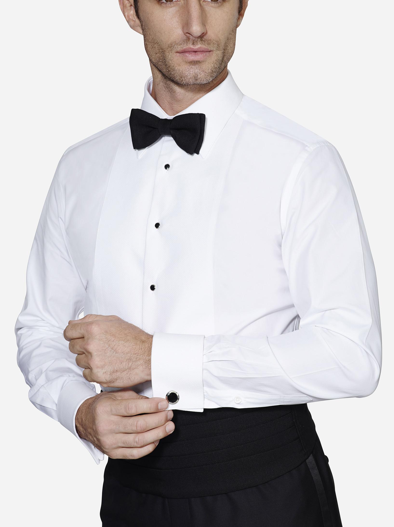 Bib Front with Diamond Pique tuxedo shirt